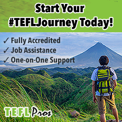 Advert for TEFL Pros